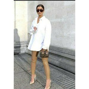 Zara Faux Leather Leggings in Camel Sz M